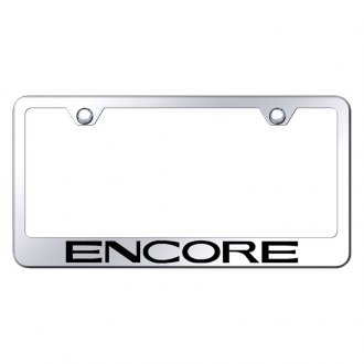 Autogold® - Chrome License Plate Frame with Laser Etched Encore Logo