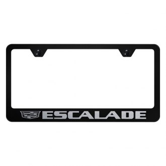 Autogold® - License Plate Frame with Laser Etched Escalade New Logo