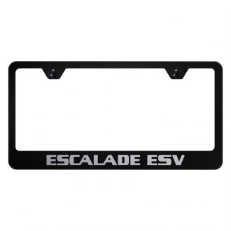 Autogold® - License Plate Frame with Laser Etched Escalade ESV Logo