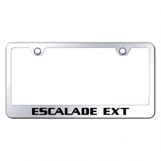 Autogold® - Chrome License Plate Frame with Laser Etched Escalade EXT Logo