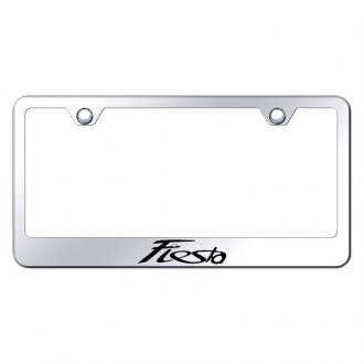 Autogold® - Chrome License Plate Frame with Laser Etched Fiesta Logo