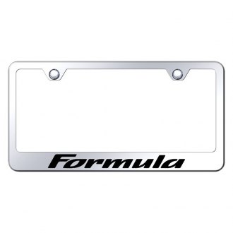 Autogold® - Chrome License Plate Frame with Laser Etched Formula Logo