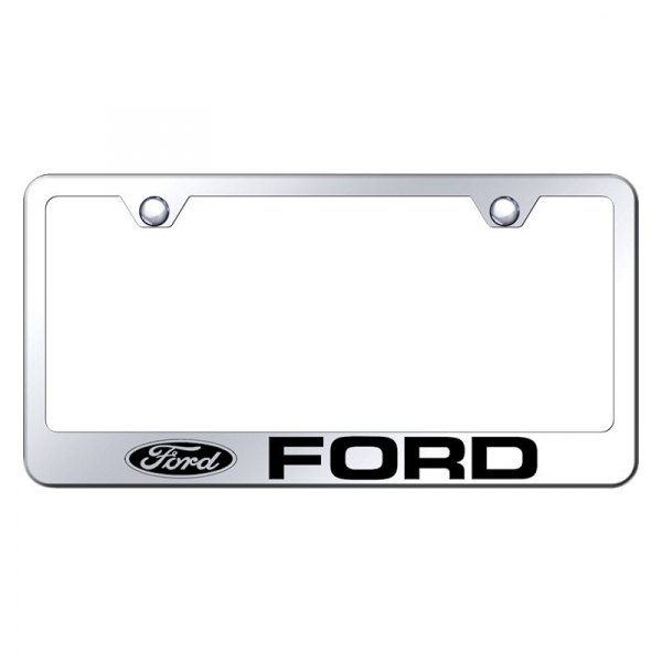 Autogold® - License Plate Frame with Laser Etched Ford Logo