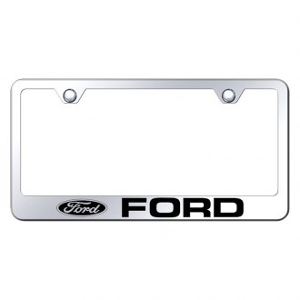 Autogold® - Chrome License Plate Frame with Laser Etched Ford Logo