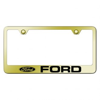 Autogold® - Gold License Plate Frame with Laser Etched Ford Logo