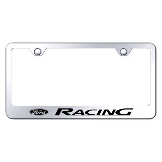 Autogold® - Chrome License Plate Frame with Laser Etched Ford Racing Logo