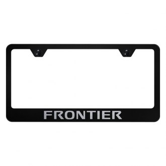 Autogold® - License Plate Frame with Laser Etched Frontier Logo