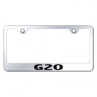 Autogold® - Chrome License Plate Frame with Laser Etched G20 Logo