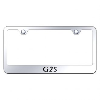 Autogold® - Chrome License Plate Frame with Laser Etched G25 Logo