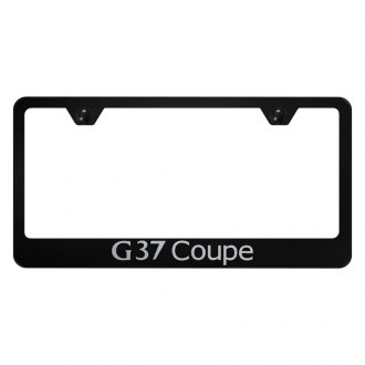 Autogold® - License Plate Frame with Laser Etched G37 Coupe Logo