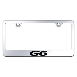 Autogold® - Chrome License Plate Frame with Laser Etched G6 Logo