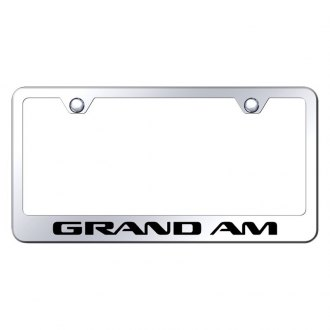 Autogold® - Chrome License Plate Frame with Laser Etched Grand Am Logo