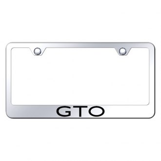 Autogold® - Chrome License Plate Frame with Laser Etched GTO Logo