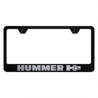 Autogold® - License Plate Frame with Laser Etched Hummer H2 Logo