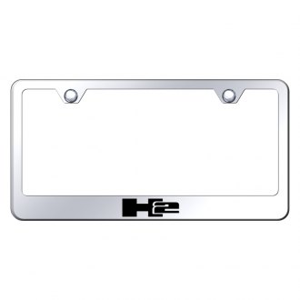 Autogold® - Chrome License Plate Frame with Laser Etched H2 Logo