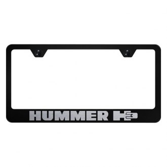 Autogold® - License Plate Frame with Laser Etched Hummer H3 Logo