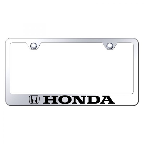 Autogold® - License Plate Frame with Laser Etched Honda Logo