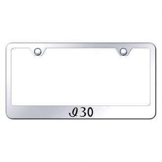 Autogold® - Chrome License Plate Frame with Laser Etched I30 Logo