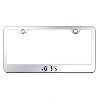 Autogold® - Chrome License Plate Frame with Laser Etched I35 Logo