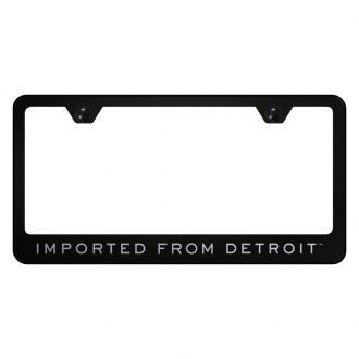 Autogold® - License Plate Frame with Laser Etched Imported From Detroit Logo