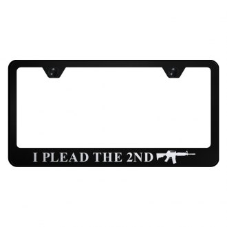 Autogold® - License Plate Frame with Laser Etched I Plead The 2nd Logo