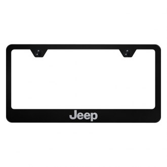 Autogold® - License Plate Frame with Laser Etched Jeep Logo