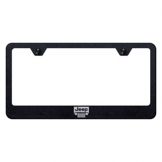 Autogold® - License Plate Frame with Laser Etched Jeep Grille Logo