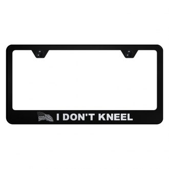 Autogold® - License Plate Frame with Laser Etched I Don't Kneel Logo