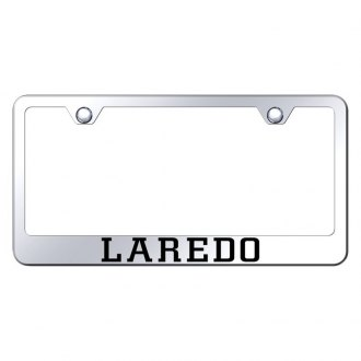 Autogold® - Chrome License Plate Frame with Laser Etched Laredo Logo