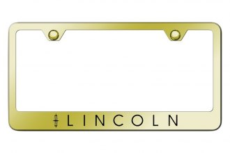 Autogold® - License Plate Frame with Laser Etched Lincoln Logo