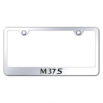 Autogold® - Chrome License Plate Frame with Laser Etched M37S Logo
