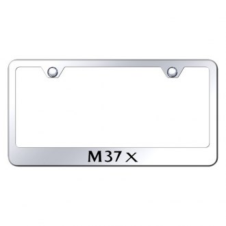 Autogold® - Chrome License Plate Frame with Laser Etched M37X Logo