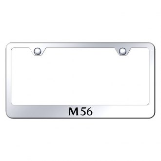 Autogold® - Chrome License Plate Frame with Laser Etched M56 Logo