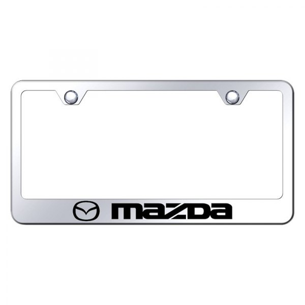 Autogold® - License Plate Frame with Laser Etched Mazda Logo