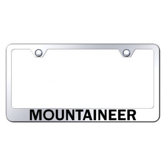 Autogold® - License Plate Frame with Laser Etched Mountaineer Logo