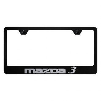 Autogold® - License Plate Frame with Laser Etched Mazda 3 Logo