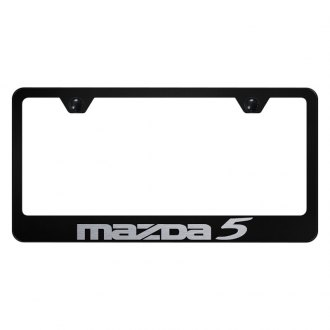 Autogold® - License Plate Frame with Laser Etched Mazda 5 Logo