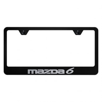 Autogold® - License Plate Frame with Laser Etched Mazda 6 Logo