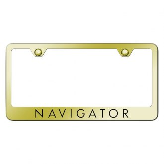 Autogold® - Plain License Plate Frame