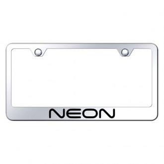 Autogold® - Chrome License Plate Frame with Laser Etched Neon Logo