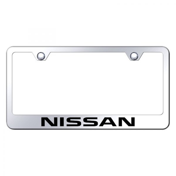 Autogold® - License Plate Frame with Laser Etched Nissan Logo