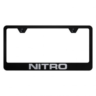 Autogold® - License Plate Frame with Laser Etched Nitro Logo