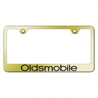 Autogold® - Gold License Plate Frame with Laser Etched Oldsmobile Logo