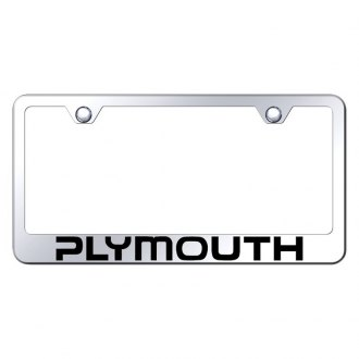 Autogold® - Chrome License Plate Frame with Laser Etched Plymouth Logo