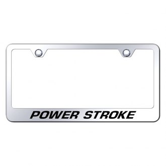 Autogold® - Chrome License Plate Frame with Laser Etched Power Stroke Logo