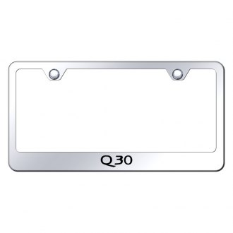 Autogold® - Chrome License Plate Frame with Laser Etched Q30 Logo