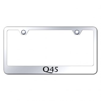 Autogold® - Chrome License Plate Frame with Laser Etched Q45 Logo