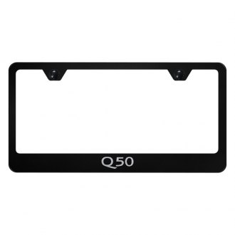 Autogold® - License Plate Frame with Laser Etched Q50 Logo