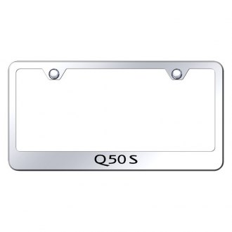 Autogold® - Chrome License Plate Frame with Laser Etched Q50S Logo