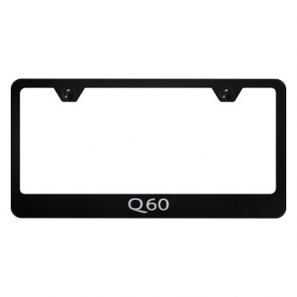 Autogold® - License Plate Frame with Laser Etched Q60 Logo